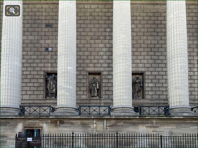 West Facade Eglise Madeleine Saint Genevieve Statue
