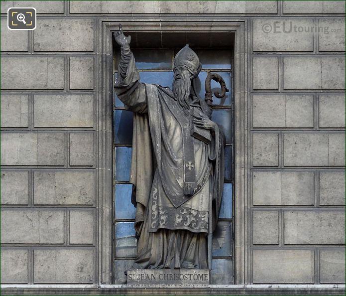 Saint Jean De Chrisostome Statue Eglise Madeleine