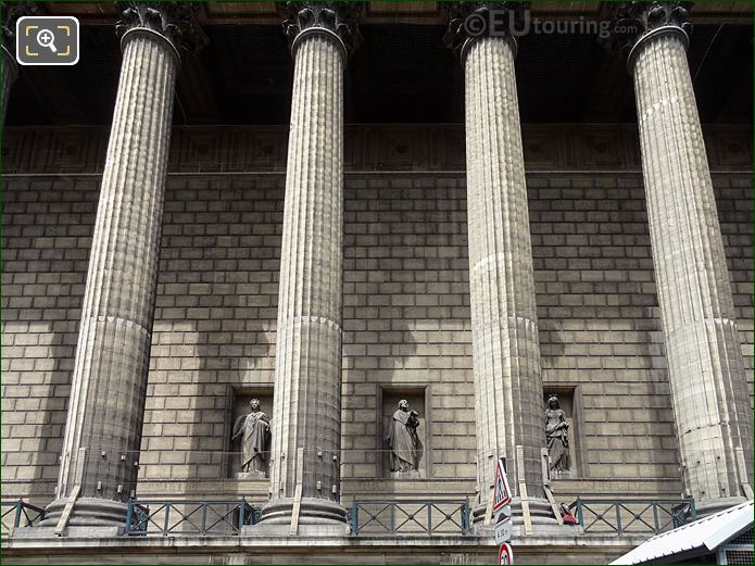 East Facade Of Eglise De La Madeleine With Saint Irenee Statue