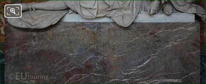 Black Marble Sarcophagus Of Charles, Duc de Crequy At Eglise Saint-Roch