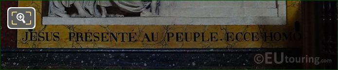 Jesus Presente Au Peuple Inscription On Frame