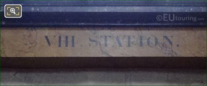 VIII Station Inscription On Jesus Condamne A Mort Frame