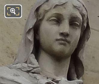 Sainte Genevieve Statue By Sculptor Eugene Antoine Aizelin