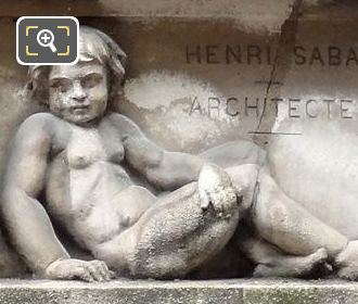 Right Hand Side Sculptured Cherub At 280 Rue Saint Honore