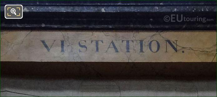 VI Station Inscription On Jesus Couronne d'Epines Frame