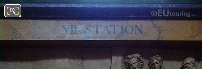 VII Station Inscription On Jesus Presente Au Peuple Frame