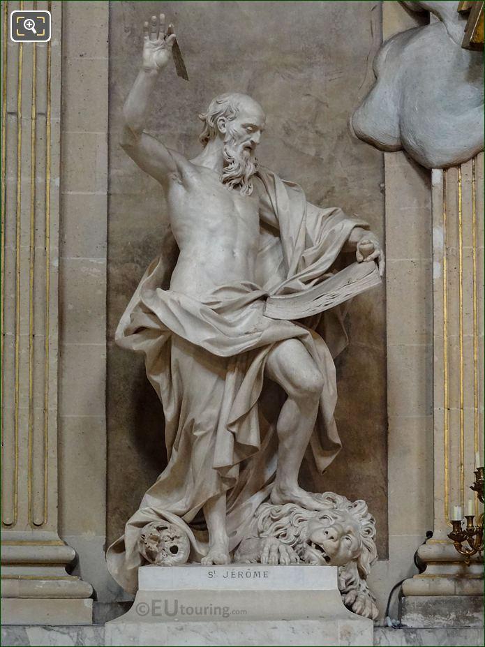 Saint Jerome Statue By French Sculptor Lambert Sigisbert Adam
