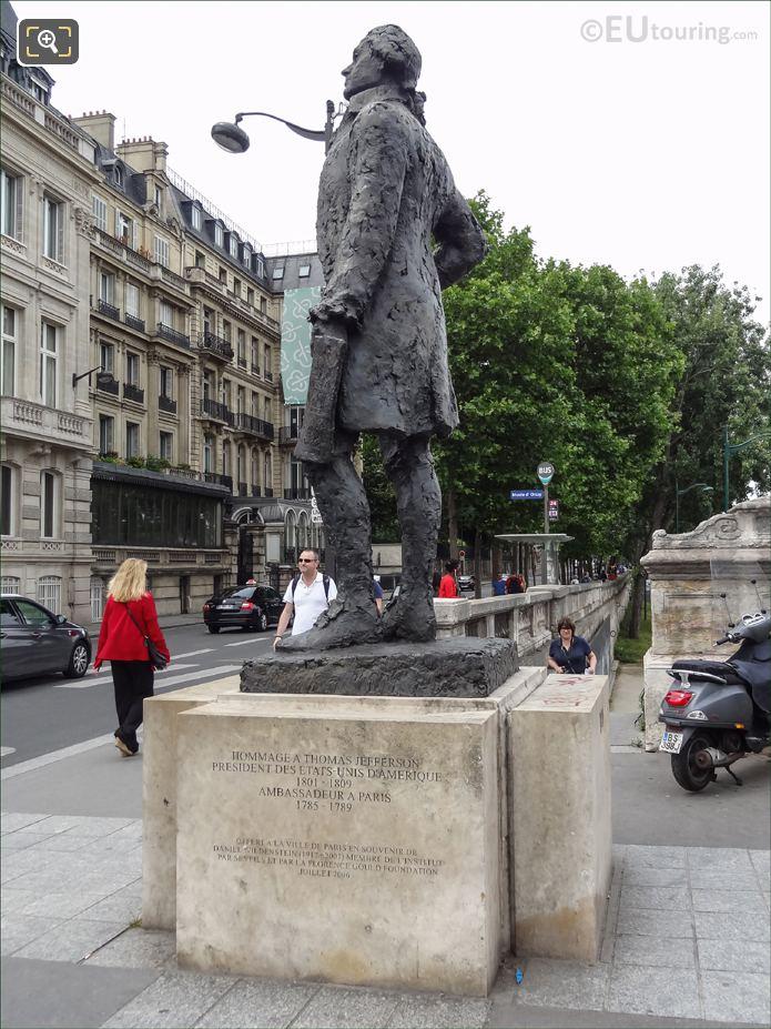 Thomas Jefferson Monument Along Quai Anatole France In Paris