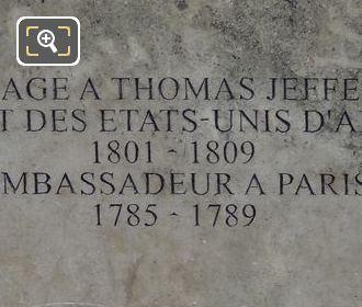 Pedestal Left Hand Side Inscription On Thomas Jefferson Monument