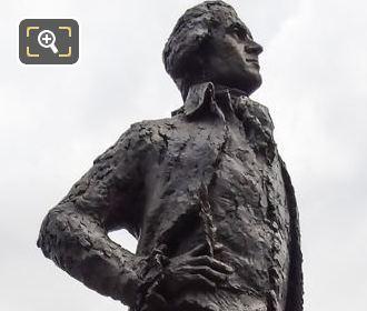Thomas Jefferson Monument On Stone Pedestal In Paris