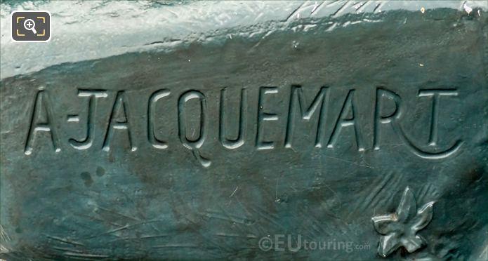 A Jacquemart Inscription On Base Of Rhinoceros Statue