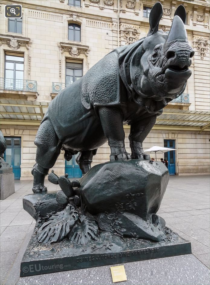 Rhinoceros Statue By French Sculptor Alfred Jacquemart