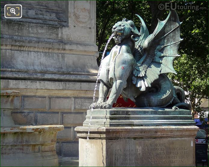 Fontaine Saint-Michel RHS Chimera Statue