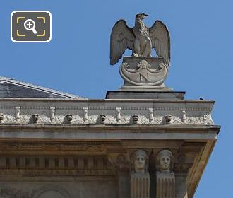 North Corner Imperial Eagle Statue West Facade Palais De Justice