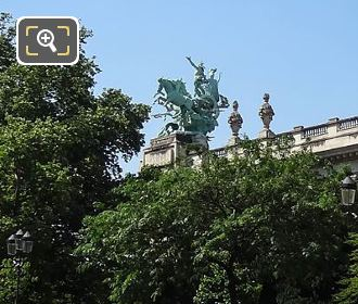 Grand Palais Harmony Triumphing Over Discord Statue