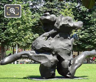 Standing Figure Sculpture Inside Tuileries Garden Paris