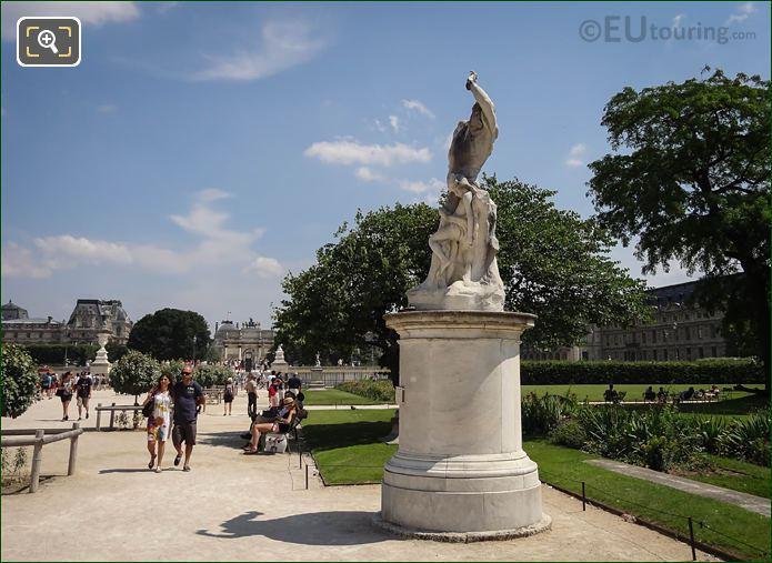 L'Homme Et Sa Misere Ou La Misere Statue On Pedestal