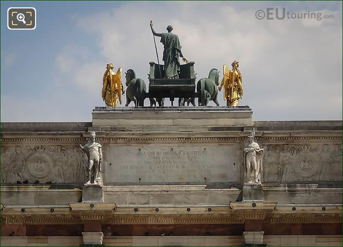 Back Of The Horses Of Saint Mark Quadriga Statues