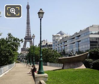Jewish Martyrs Monument With The Eiffel Tower
