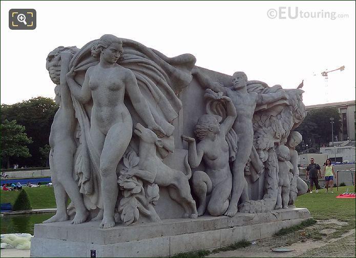 Trocadero La Jeunesse Statue