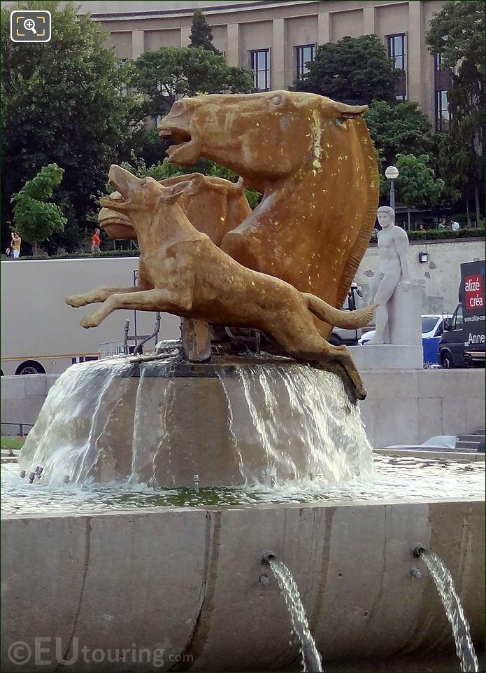 Jardins Du Trocadero Horses And Dog Statue
