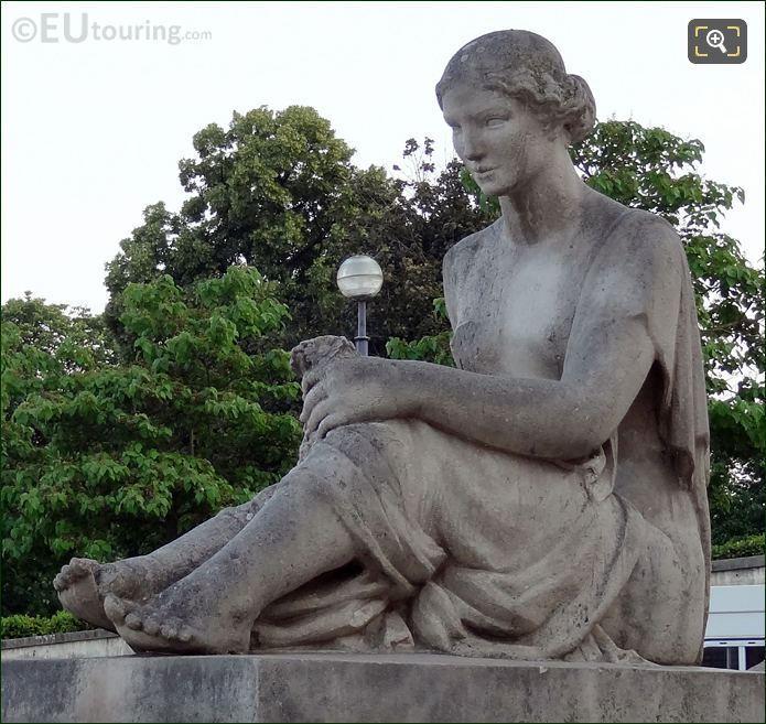 Stone Statue At Palais De Chaillot
