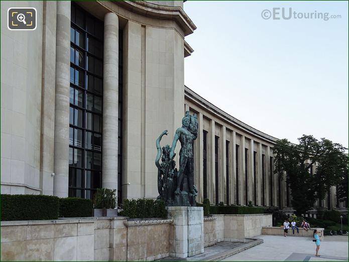 Bronze Apollo With Lyre Inside Jardins Du Trocadero