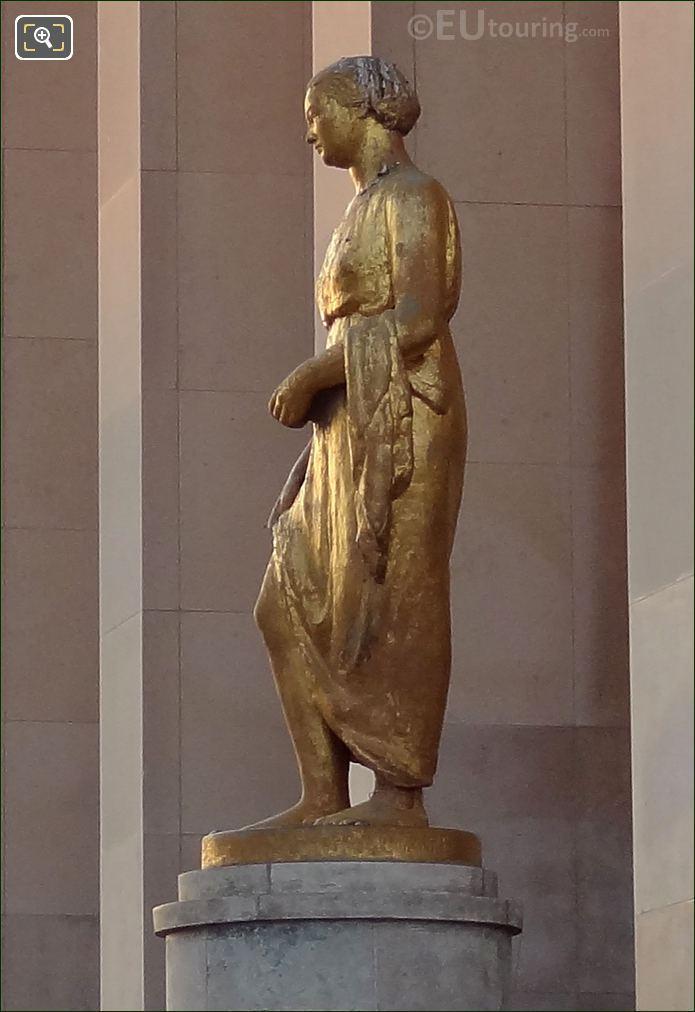 Palais De Chaillot Gilded Statue