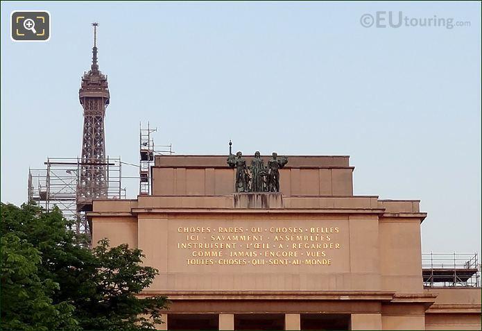 Palais De Chaillots Les Elements Statues