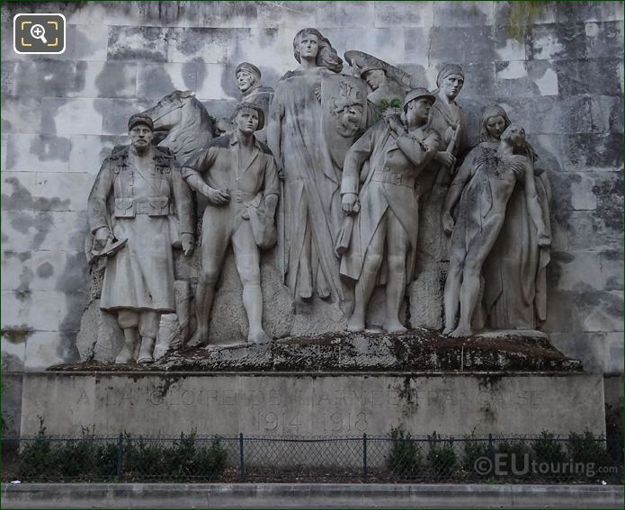 Stone Sculpture To The Glory Of The French Army