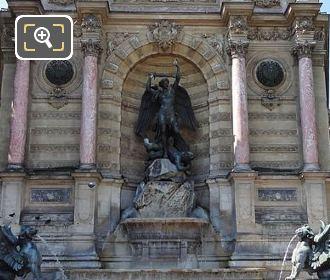 Fontaine Saint-Michel With Saint Michel Terrassant Le Demon
