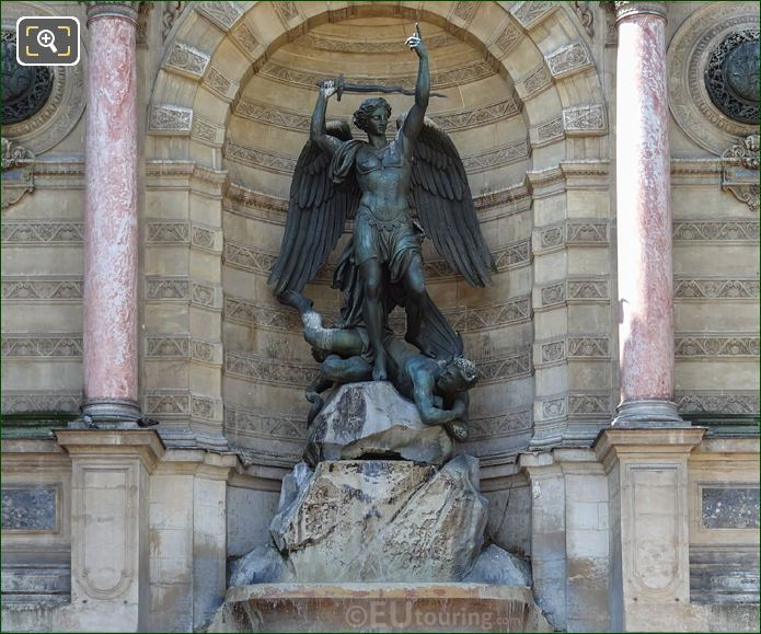 Saint Michel Terrassant Le Demon By Francisque Joseph Duret