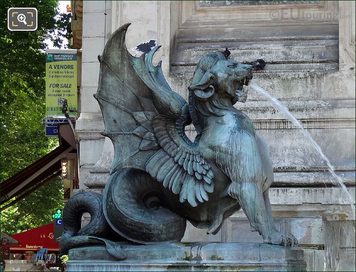 Fontaine Saint Michel Mythical Statue