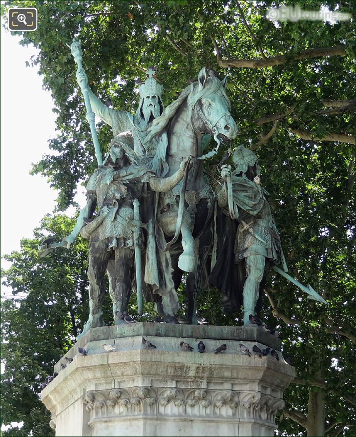 Front View Of The Charlemagne Statue
