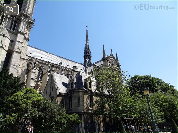 Notre Dame Spire With Apostle Statues