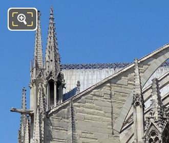 Flying Buttress With Gargoyle Statue