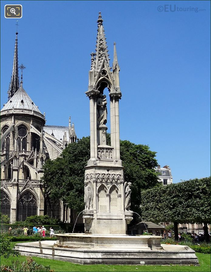 Notre Dame Fountain Of The Virgin Statue