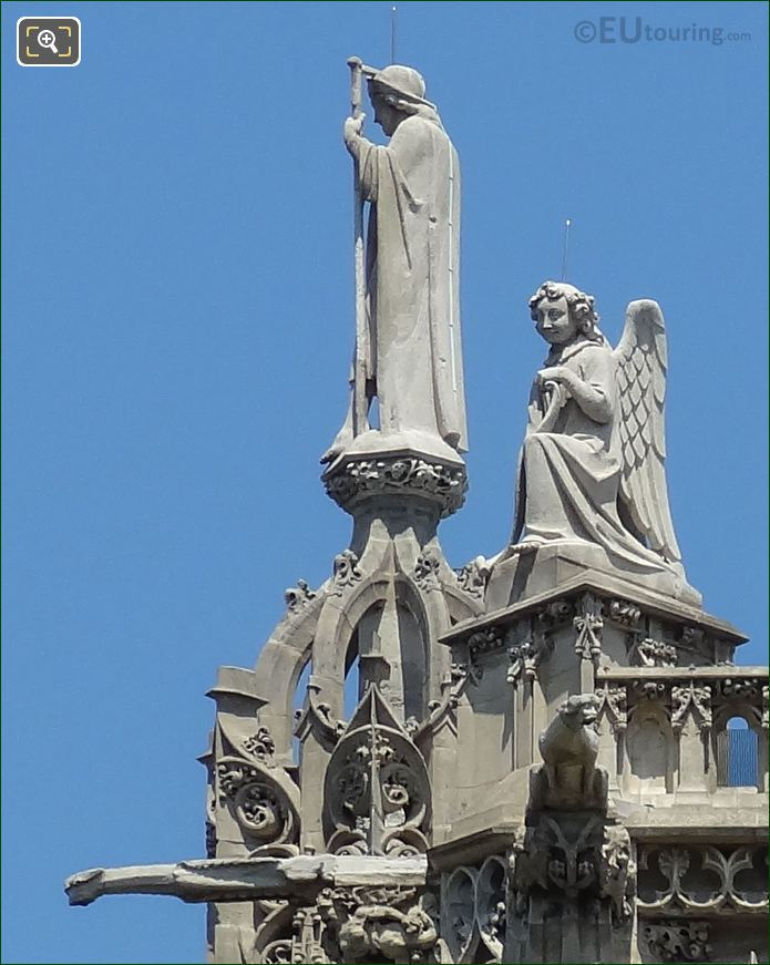Evangelists Statue Saint Jacques By Jean Louis Chenillon