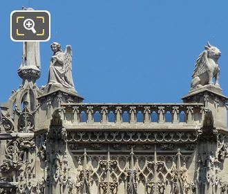 2 Evangelists Statues Tour Saint Jacques