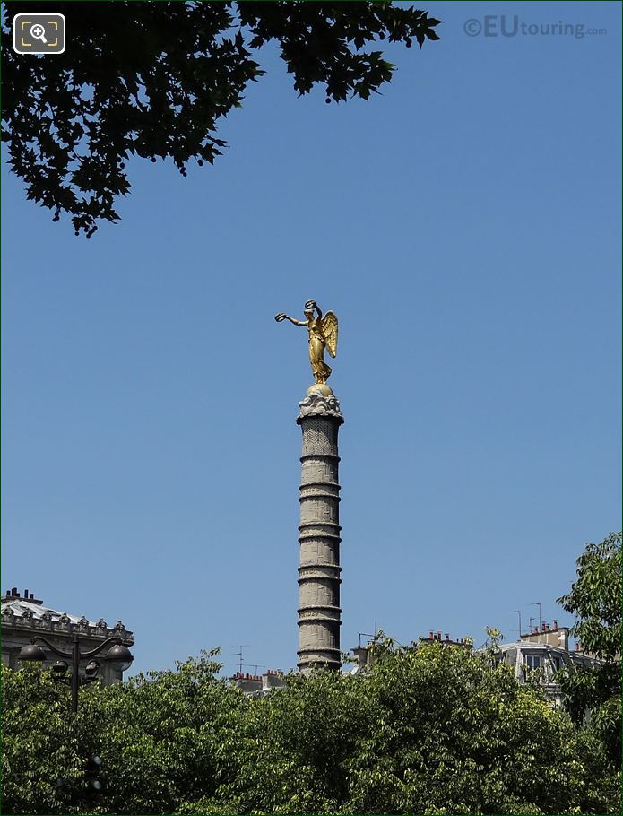 Golden Bronze Victoire Statue At Place Du Chatelet