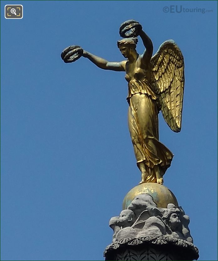 Statue On Fontaine Du Palmier In Paris