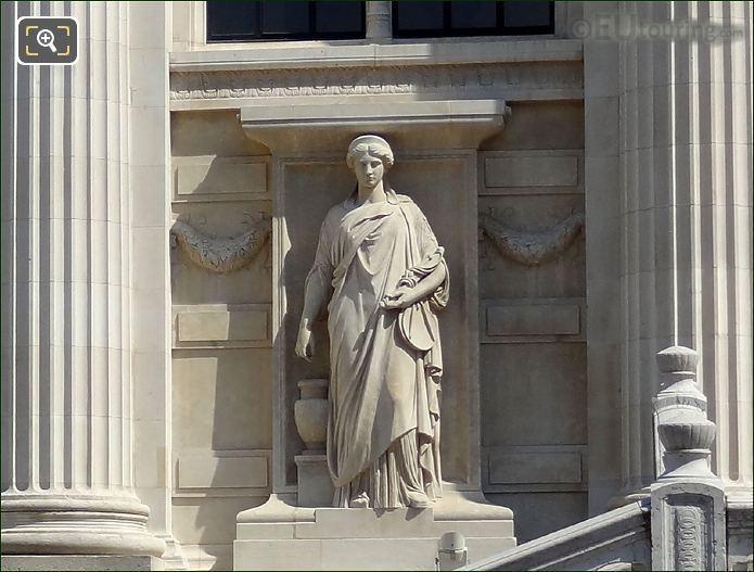 The Palais De Justice L'Equite Statue