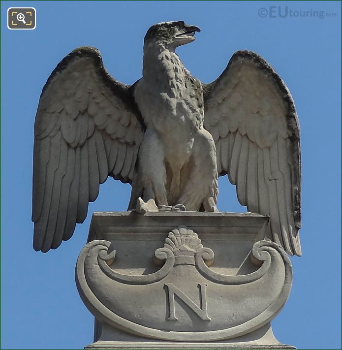 Napoleon N Under Imperial Eagle Statue