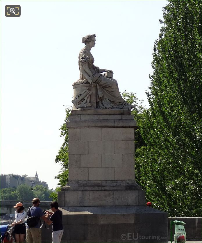 The Pont du Carrousel Abundance Statue