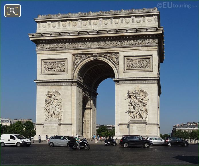 Arc De Triomphe At Place Charles De Gaulle