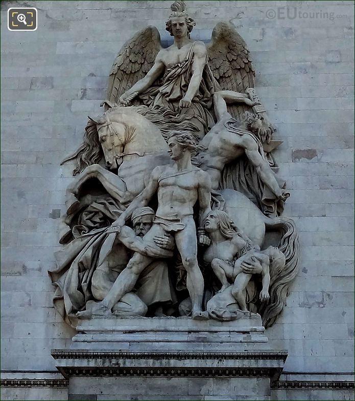 Arc de Triomphe La Resistance 1814 Statue