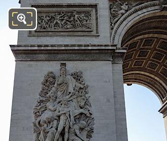 Arc De Triomphe North West Leg With La Prise d'Alexandrie Sculpture