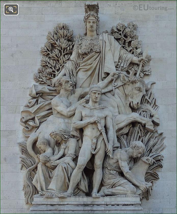 La Paix De 1815 Sculpture On The Arc De Triomphe