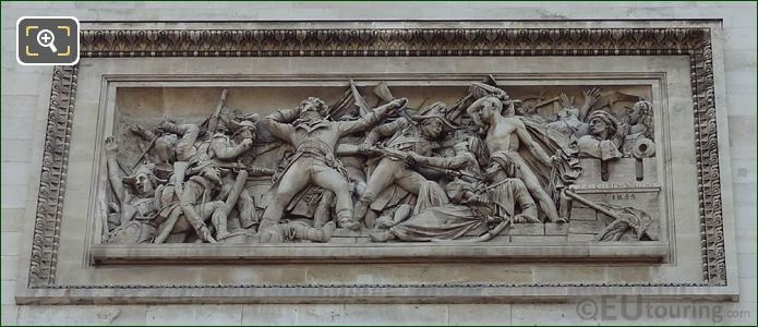 La Prise d'Alexandrie Sculpture On The Arc De Triomphe