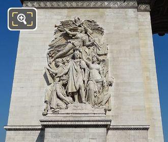 Arc De Triomphe SE Column Le Triomphe De 1810 Sculpture